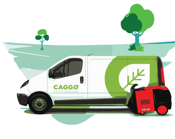 Caggo steam car wash van and optima steamer