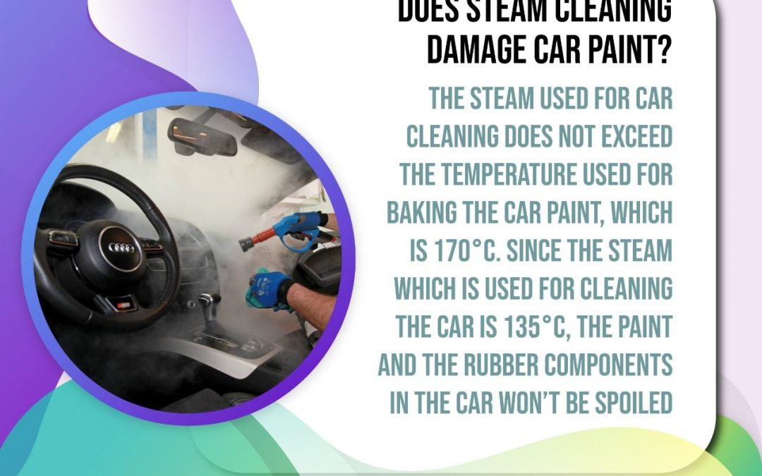 Does steam cleaning damage car paint?
